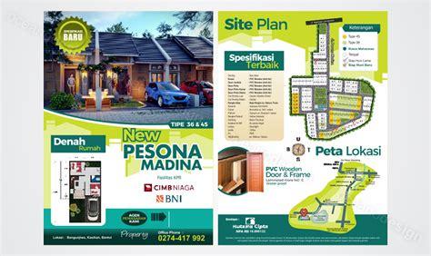desain kartu nama properti desain brosur perumahan pesona madina jasa desain grafis
