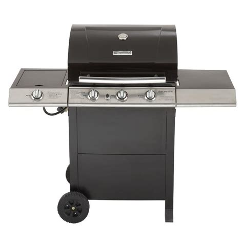 backyard grill 3 burner gas grill with side burner kenmore 464311009 596 sq in 3 burner gas grill with side burner sears outlet