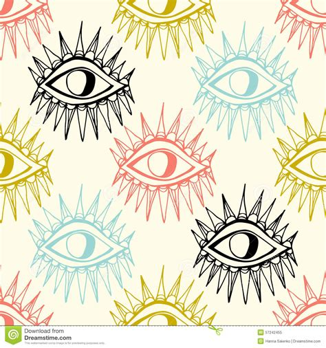 seamless eye pattern abstract eyes seamless pattern stock illustration image