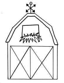 barn template free printable barn templates barn coloring pages this