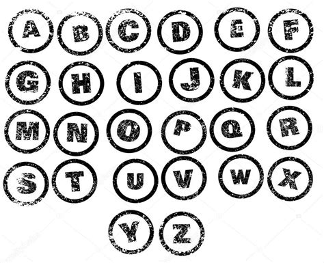 rubber st alphabet letters rubber st alphabet stock vector 169 bigalbaloo 54543363