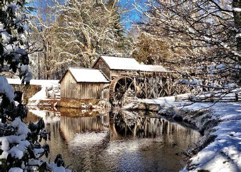 snowy cottage hd wallpaper 2414556