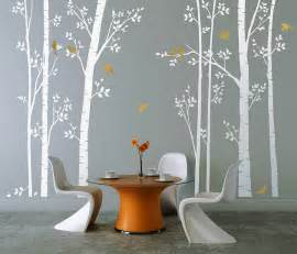 White Tree Wall Sticker leafy trees white wall sticker by zazous notonthehighstreet com