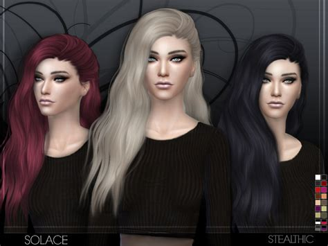 sims 4 hair black tsr the sims resource stealthic solace female hair