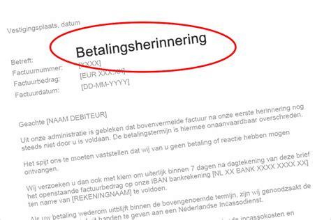 Voorbeeld Betalingsherinnering En Een Factuur Herinnering voorbeeldbrief 2de betalingsherinnering