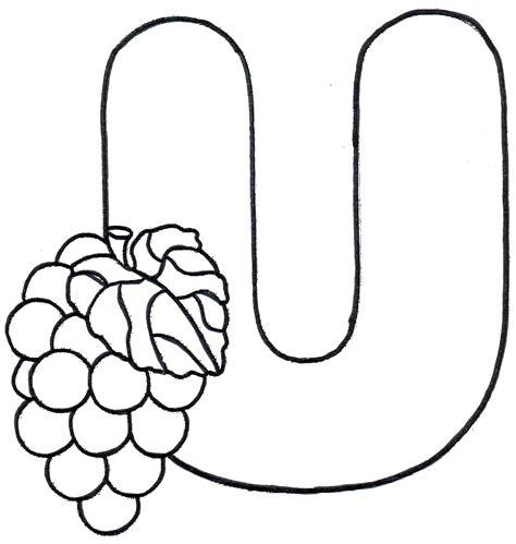 imagenes para colorear uvas letra u para colorear related keywords letra u para