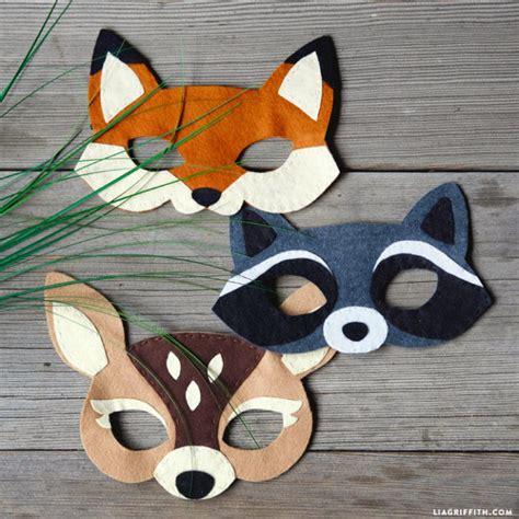 felt woodland masks lia griffith