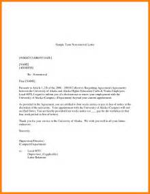 Contract Notice Letter 4 Employee Contract Renewal Letter Sle Nanny Resumed