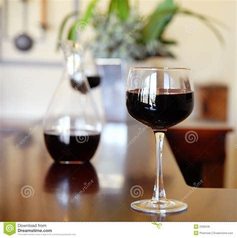 glass of wine bar table royalty free stock image image