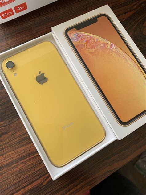 apple iphone xr gb yellow verizon  cdma