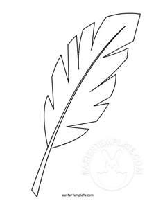 palm leaf template printable hosanna palm leaf easter easter template