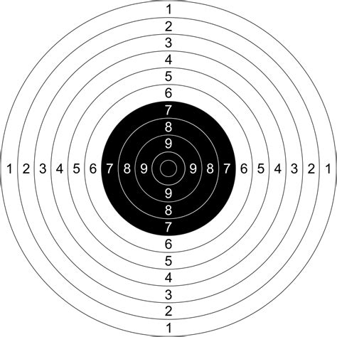 printable precision targets file issf 25 meter precision and 50 meter pistol target