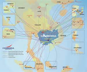 airports in map airports in cambodia map