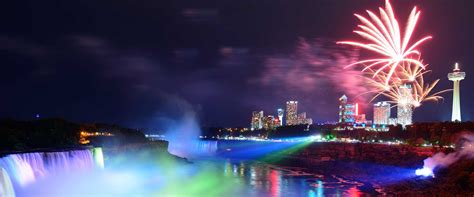 light niagara falls niagara falls illumination and fireworks ontario canada