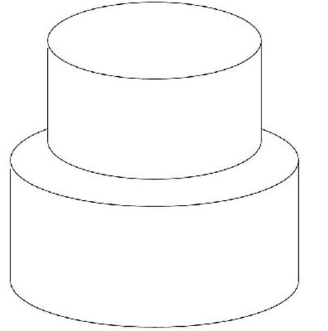 Design Your Own Cake With This Outline Of A Basic Tiered Cake Once Scaled Larger And Printed Design A Cake Template
