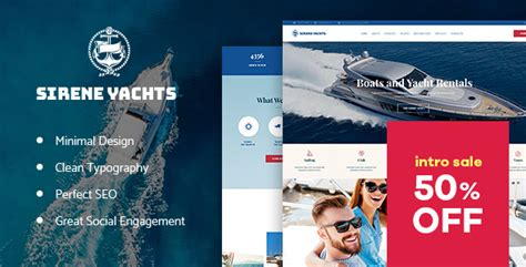 yacht and boat rental service theme nulled sirene yacht charter services boat rental nulled