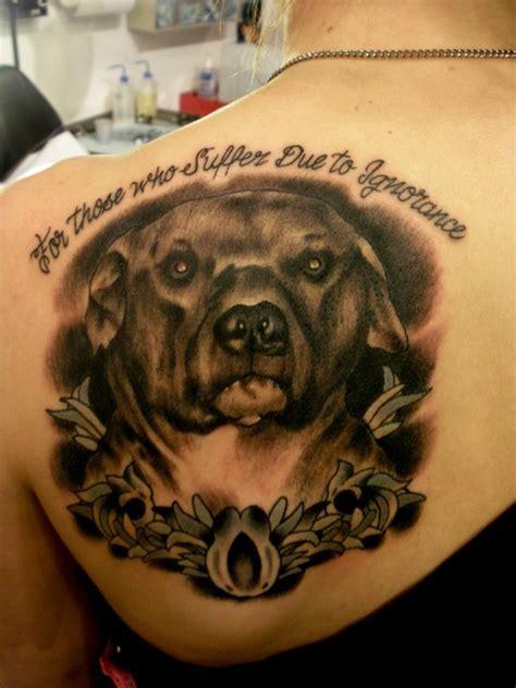 pit bull tattoos memorial pit bull tattoos pit bulls