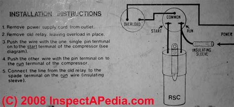 electric motor starting capacitor wiring installation