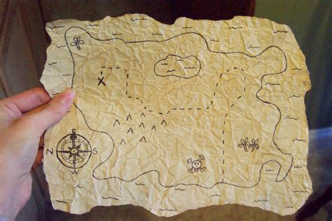 How To Make A Paper Map - raising leafs make it monday treasure map
