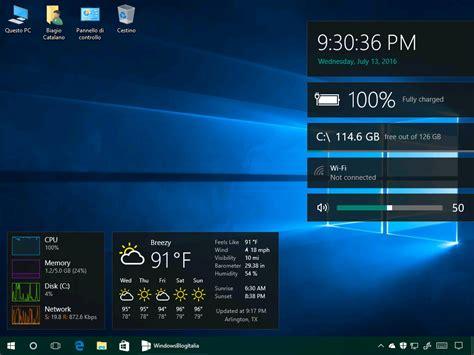 Calendar Widget Windows 10 Vi Mancano I Gadget Desktop Ecco Come Averli Su
