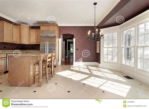 eating area kitchen with large eating area royalty free stock image