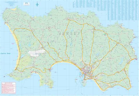 0004490363 carte touristique jersey en carte touristique des 238 les de jersey et guernsey au 1 18