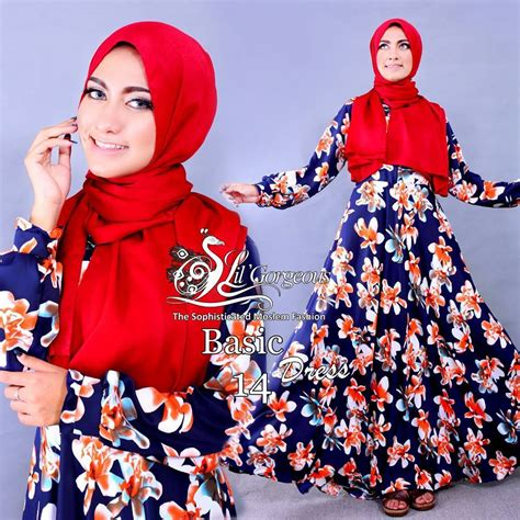 Baju Counsellor White Dongker basic 14 dongker baju muslim gamis modern