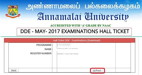 Mba Dde by Annamalai Dde Ticket May 2018 Indiaresults