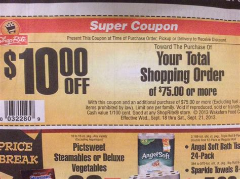 shoprite bonus coupon shopportunist