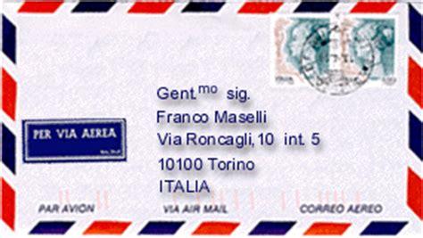 spedizione lettere estero la corrispondenza italiana la busta