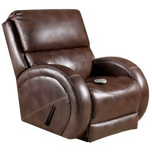 Brown Leather Recliner Massaging Loggins Brown Leather Recliner With Heat Am H9490 8570 Gg
