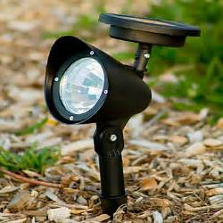 yard lights solar powered 3 led outdoor solar powered landscape spot light led yard