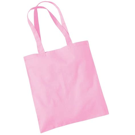 Tas Pink Fashion Bag new westford mill cotton promo shoulder tote carry bag in 35 colours ebay
