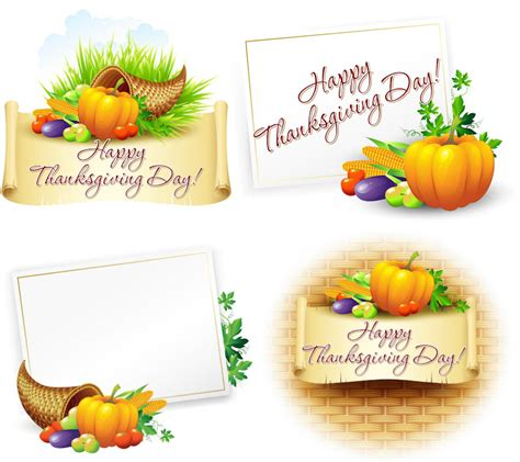happy thanksgiving card template happy thanksgiving day vector cards 2013 vector graphics