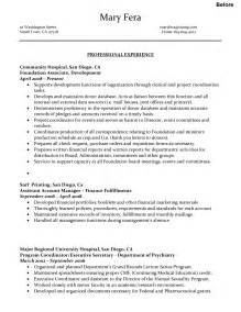 business executive resume sle sle combination resume administrative assistant