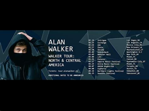 alan walker world tour alan walker walker tour 2017 north central america