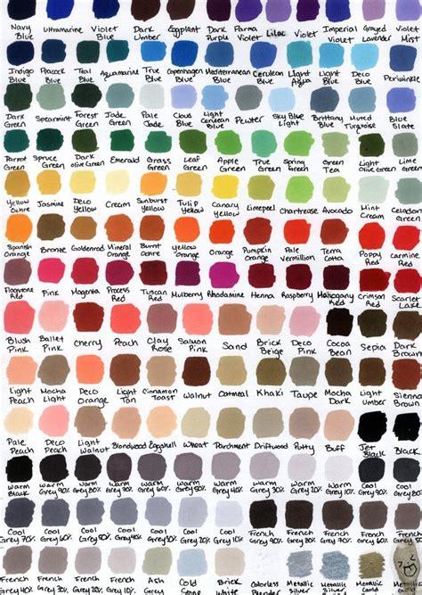 prismacolor color chart prismacolor color chart by katwynn47 deviantart