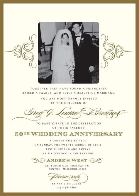 60th anniversary invitations templates 60th wedding anniversary invitation wording sles anniversary party 60th anniversary
