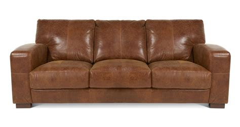 Dfs Emperor Brown Couch Italian Leather Sofa Ranch Natural