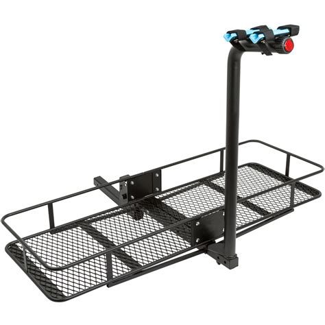 Cargo Carrier With Bike Rack by Hitch Mounted Folding Cargo Carrier With 2 Bike Rack 500