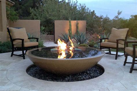 Firepit Bowls Concrete Bowl Pit Fireplace Design Ideas