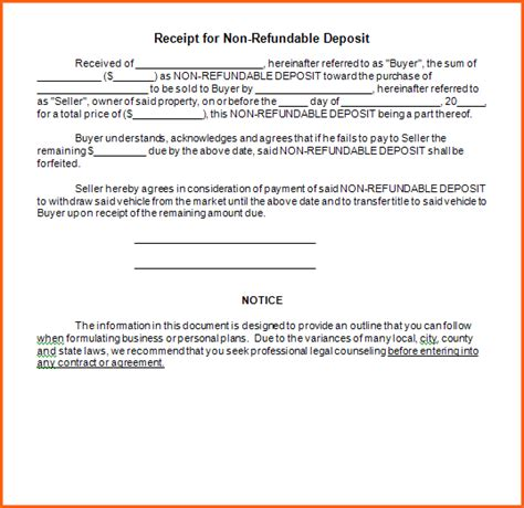 6 vehicle deposit form budget template letter