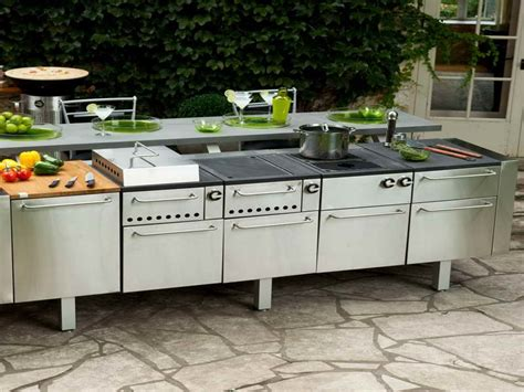 prefab outdoor kitchen kits in various designs mykitcheninterior