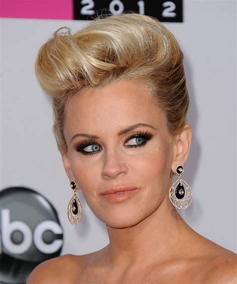 hairstyle of jenny mccarthy on the view jenny mccarthy updo long straight formal updo hairstyle