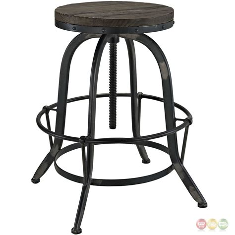 cast iron seat set of 4 collect industrial bar stool w wood seat cast