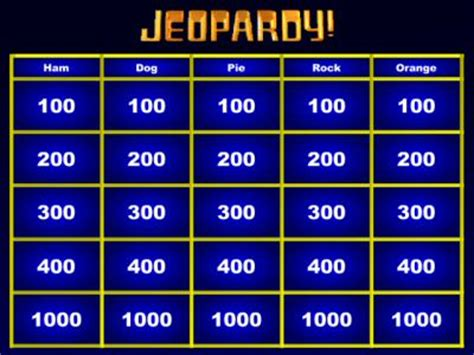 tv show powerpoint templates jeopardy maker