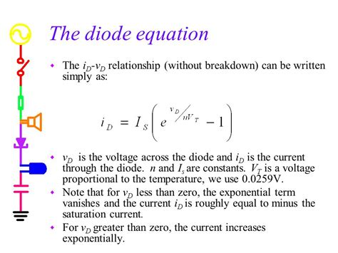 diode current equation is experiment 8 diodes introduction to diodes ppt