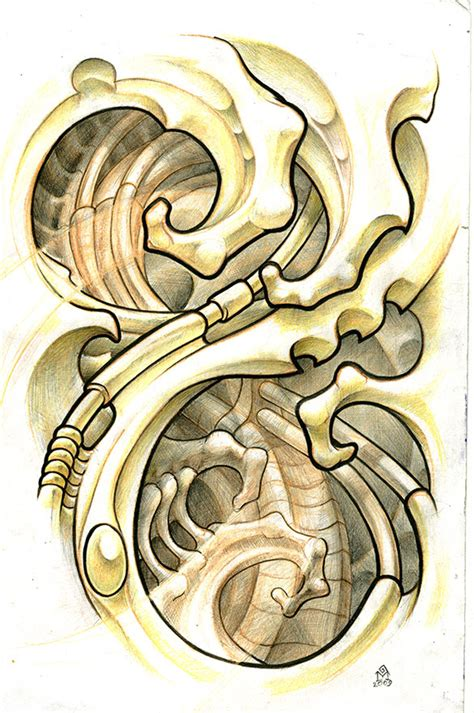 biomechanical tattoos and designs page 305