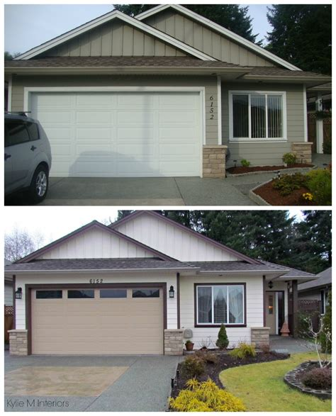 ranch style trim before and after exterior color palette on a small ranch