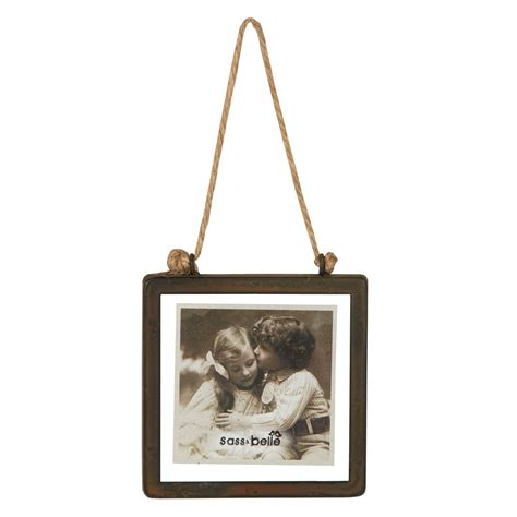 frame hanging industrial finish square hanging photo frame
